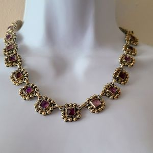 Vintage Mexican Sterling Silver Amethyst Necklace